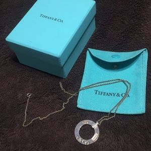 Silver Tiffany & Co. Circle necklace